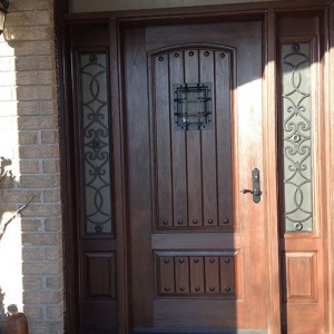 Custom Rustic Door with 2 side lite Installed in Berlington by windowsanddoorstoronto.ca