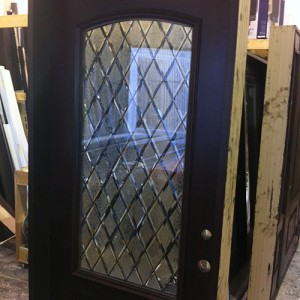 Diamond Design Stained Glass Door Installed by Windows And Doors Toronto