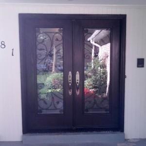 Fiberglass Wrought Iron Doors installed by windowsanddoors.ca in Thornhill
