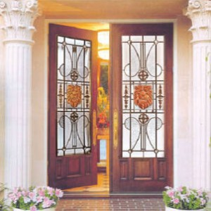 Gold Lion Stained Glass Fiberglass Doors by Windows And Doors Toronto