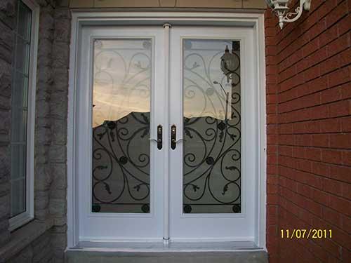 Jullietta Smooth Doors with Multi Points locks installation by Windows and Doors Toronto