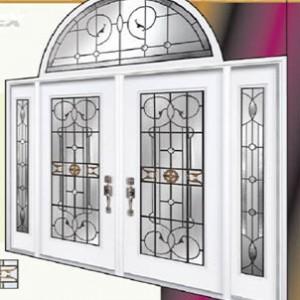 Leonardo Stained Glass Fiberglass Doors by Windows And Doors Toronto