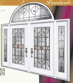 Leonardo Stained Glass Fiberglass Doors by Windows And Doors Toronto