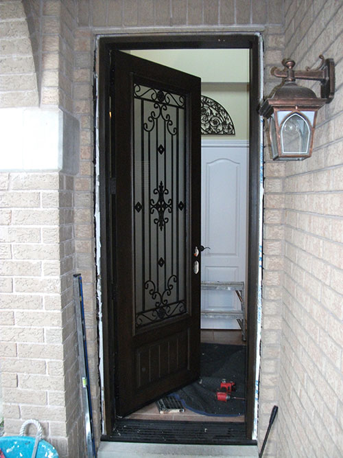 Medieval Design Stained glass Door Installed by Windows And Doors Toronto