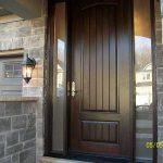 Rustic Door, Sigle-8-Foot-Solid Door-with-2-frosted-Side-Lites-Installed by Windows and Doors Toronto-in-Newmarket-Ontario