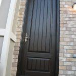Rustic Door, Single Solid Fiberglass Back Door with Installed by Windows and Doors Toronto in King City Ontario