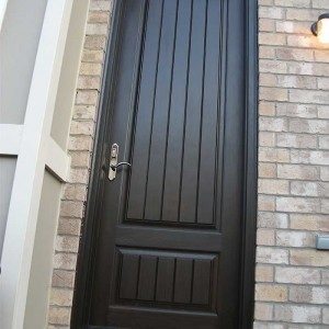 Rustic Door, Single Solid Fiberglass Back Door with Installed by Windows and Doors Toronto in King City Ontario