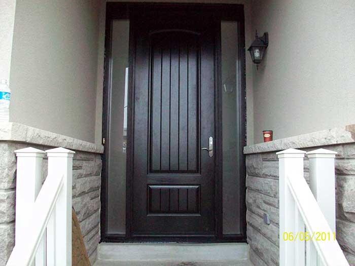 Rustic Door - Stain, Spainsh Oak In & Out installed by Windows and Doors Toronto