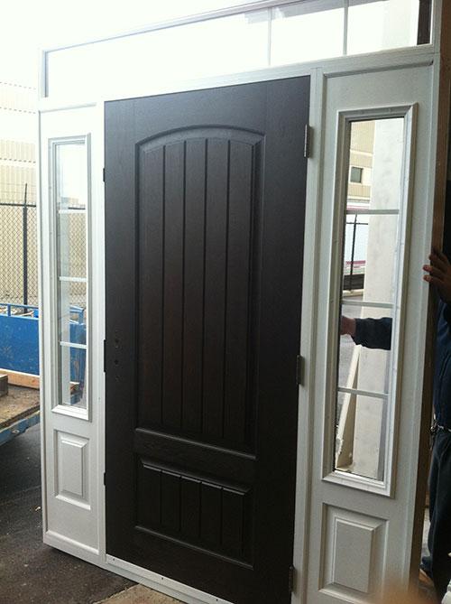 Rustic Door with 2 Side Lites by Windows and Doors Toronto