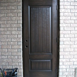 Rustic Door with multi point locks Installed by Windows and Doors Toronto