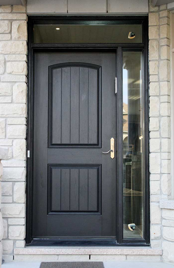 Rustic Door with side lite and Transom installed by Windows and Doors Toronto
