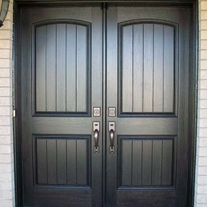 Rustic Doors, Double Fiberglass Woodgrain Installed by Windows and Doors Toronto in Brampton