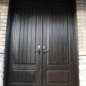 Rustic Doors, Parliament Front Door with multi Point Locks Installed by Windows and Doors Toronto in King City Ontario