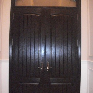 Rustic Doors with Arch Transom Installed by Windows and Doors Toronto