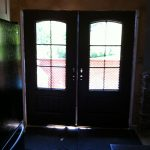 Rustic French Doors with Iron Arts, Inside View Installed by Windows and Doors Toronto