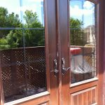 Rustic French Doors with Iron Arts Installed by Windows and Doors Toronto