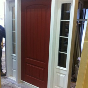 Rustic Sigle Door with 2 Side Lites by Windows and Doors Toronto