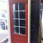 Rustic Single Door with 3 quarter Glass by Windows and Doors Toronto