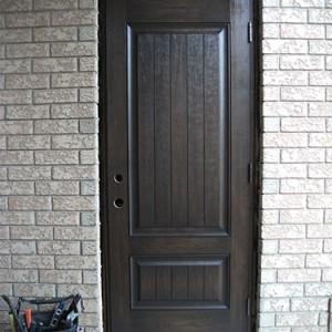 Single Rustic Door, Fiberglass Door Installed by Windows and Doors Toronto
