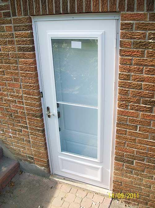 Smooth Door Solid Single Door Installed by Windows and Doors Toronto