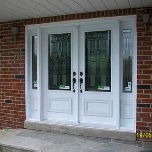Smooth Doors, Stained Glass Design installed by Windows and Doors Toronto