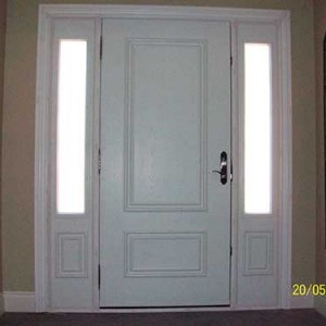 Smooth Doors with 2 Side Lites installed by Windows and Doors Toronto
