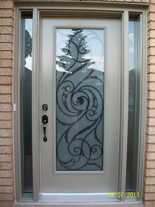 Smooth Single Door, Wrought Iron with Multi Point Locks installation by Windows and Doors Toronto