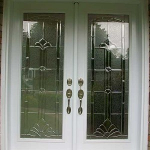 Smooth Stained Glass Doors with Multi point Locks Installed by Windows And Doors Toronto