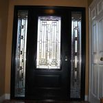 Stained Glass Door with 2 Side Lites installed in Kingston Ontario - Inside View by Windows And Doors Toronto
