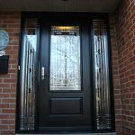 Stained Glass Door with 2 Side Lites installed in Kingston Ontario by Windows And Doors Toronto