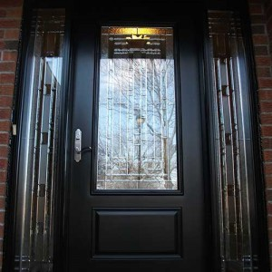 Stained Glass Door with 2 Side Lites installed in Kingston by Windows And Doors Toronto