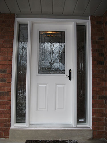 Stained Glass Door with 2 side Lites, Installed by Windows And Doors Toronto