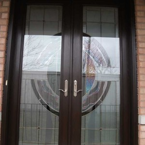 Stained Glass Doors, 8-Foot-Fiberglass-Milan-Design-Door-Installed-in-Woodbridge by Windows And Doors Toronto