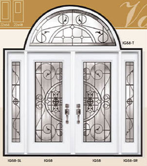 Valencia Stained Glass Fiberglass Doors by Windows And Doors Toronto