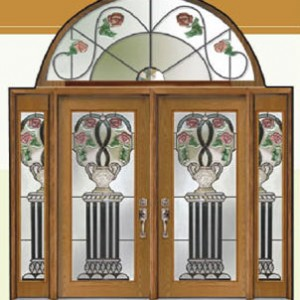Venice Roses Stained Glass Fiberglass Doors by Windows And Doors Toronto
