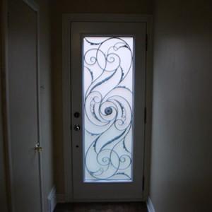 Wrought Iron Door, Milan DesignExterior Door Inside View Installed by Windows and Doors Toronto in Etobicoke