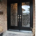 Wrought Iron Doors Fiberglass with Julietta Design and Multi Point Locks Installed by Windows and Doors Torontoin Etobicoke