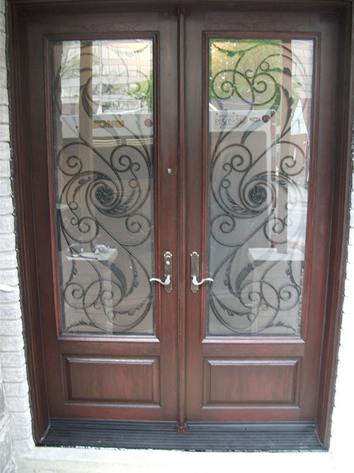 Wrought Iron Doors Fiberglass Front Entry Serafina Design