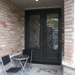 Wrought Iron Double Doors Serafina Design Installed by Windows and Doors Toronto n North York
