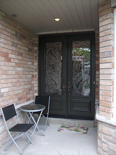 Wrought Iron Double Doors Serafina Design Installed by Windows and Doors Toronto n North York