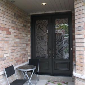Wrought Iron Exterior Double Doors Serafina Design Installed in Toronto by Windows and Doors Toronto