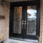 Wrought Iron Fiberglass Double Doors with Multi Point Locks installed in Toronto by Windows and Doors Toronto