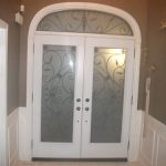 Wrought Iron Julietta Design Double Doors with Arch Transom Inside Design Installed in Toronto by Windows and Doors Toronto
