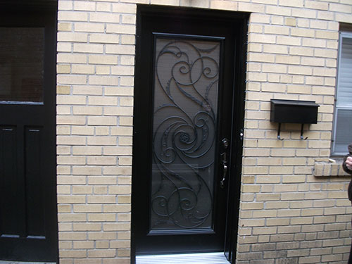 Wrought Iron Milan Design Exterior Door Outside View Installed by Windows and Doors Toronto