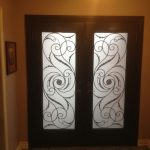 Wrought Iron Serafina Design Double Doors, Inside View Installed by Windows and Doors Toronto