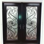 Wrought Iron Serafina Design Double Doors Installed in by Windows and Doors Torontoin Maple