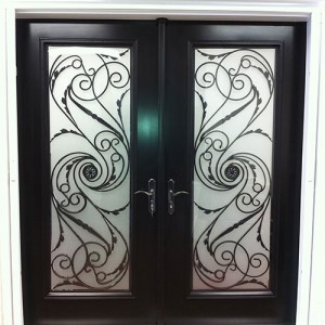 Wrought Iron Serafina Design Double Doors Installed in by Windows and Doors Torontoin Maple
