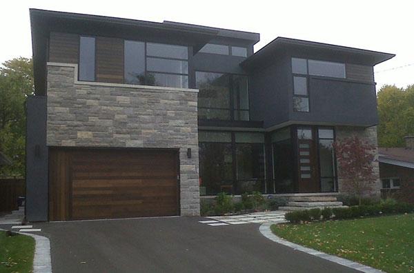 custom garage doors installed by Windows and Doors Toronto in-maple