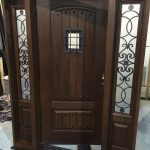 Woodgrain doors, Rustic Fiberglass Door-Custom Fiberglass Doors with 2 side lite Installed in Berlington by windowsanddoorstoronto