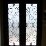 woodgrain fiberglass doors,Custom fiberglass doors, 8ft fiberglass Doors, Executive fiberglass doorsCustom Fiberglass Doors with 2 side lite Installed in Oakville by windo-Inside View